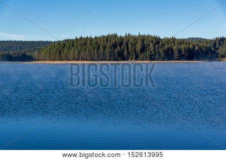 Amazing landscape of Green forest of Golyam Beglik Reservoir, Pazardzhik Region, Bulgaria