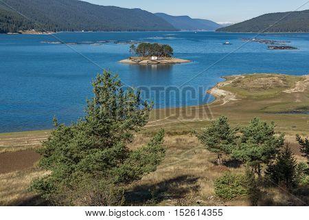 Autumn Landscape of Dospat  Reservoir, Smolyan Region, Bulgaria