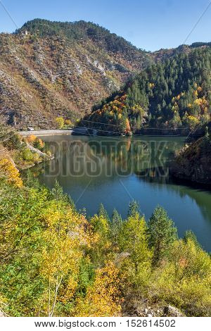 Autumn forest around Teshel  Reservoir, Smolyan Region, Bulgaria