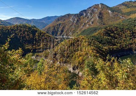 Autumn Landscape of Tsankov kamak Reservoir, Smolyan Region, Bulgaria