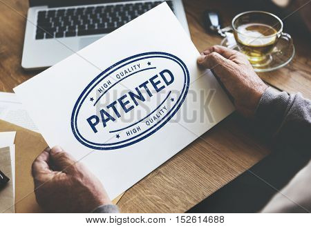 Patented Brand Identity License Product Copyright Concept