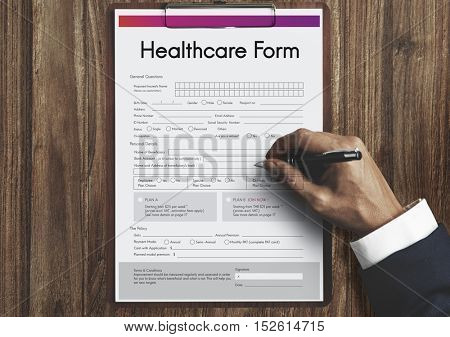 Health Insurance Healthcare Form Concept