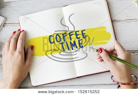 Relax Coffee Break Time Graphic Concept