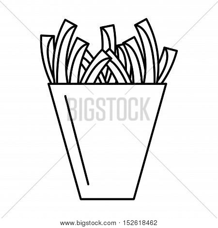 delicious french fries isolated icon vector illustration design