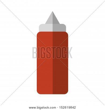 sauce bottle fast food icon vector illustration design