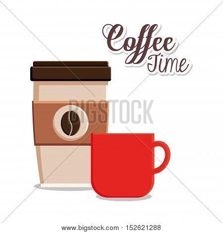 Coffee mug icon. Coffee shop drink beverage and restaurant theme. Vector illustration