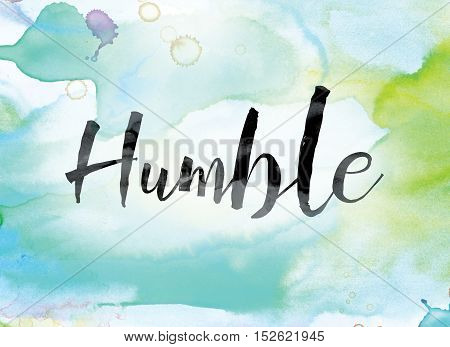 Humble Colorful Watercolor And Ink Word Art