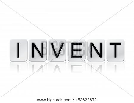 Invent Isolated Tiled Letters Concept And Theme