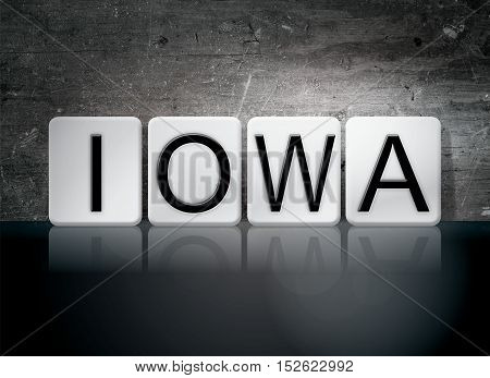 Iowa Tiled Letters Concept And Theme