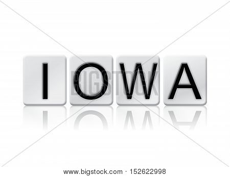 Iowa Isolated Tiled Letters Concept And Theme