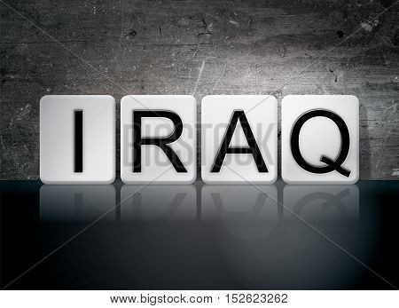 Iraq Tiled Letters Concept And Theme