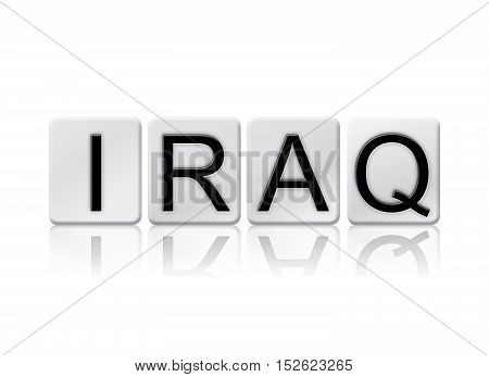 Iraq Isolated Tiled Letters Concept And Theme