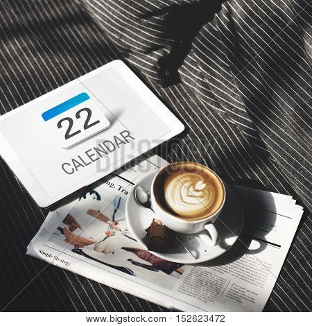 Calendar Agenda Meeting Reminder Schedule Graphic Concept