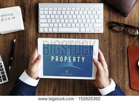 Real Estate Building Icon Concept