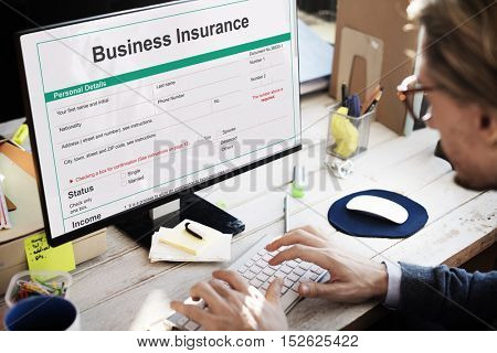 Business Insurance Protection Firm Safety Concept