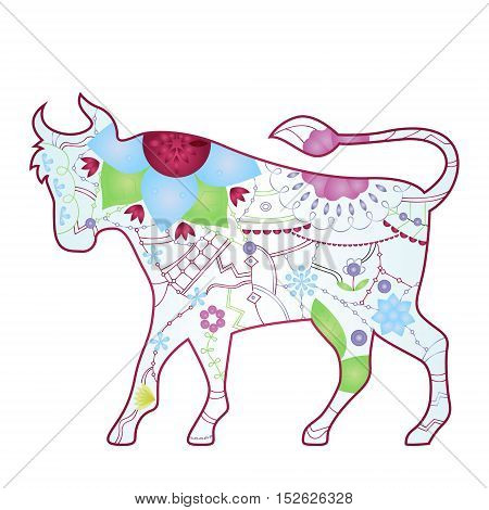 vector illustration of Taurus zodiac sign gradient