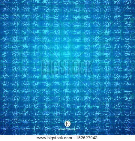Consisting of blue particles abstract backgroundTechnological sense Illustrations.