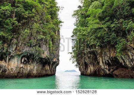 Koh Hong Island Krabi In Thailand Between The Rock