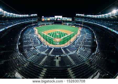 yankee stadium from one of the top sections