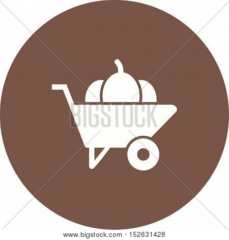 Wheelbarrow, cart, agriculture icon vector image. Can also be used for farm. Suitable for mobile apps, web apps and print media.