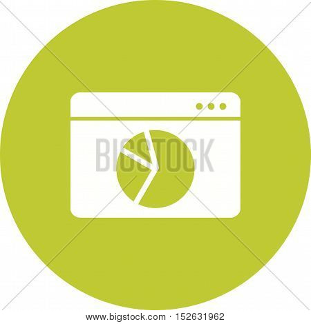 Website, stats, webpage icon vector image. Can also be used for web. Suitable for mobile apps, web apps and print media.