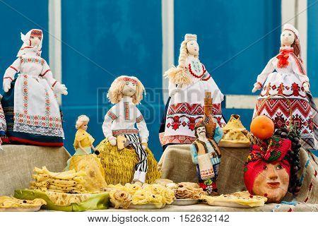 Beautiful Folk Rag Dolls From Belarus. Souvenir