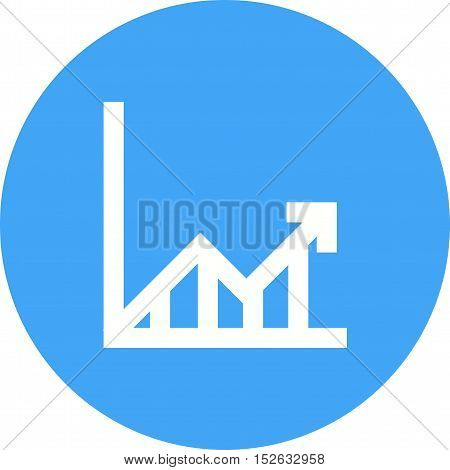 Arrow, graph, economy icon vector image. Can also be used for web. Suitable for use on web apps, mobile apps and print media.