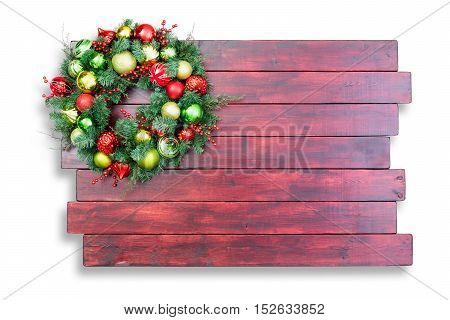 Colorful Traditional Christmas Wreath