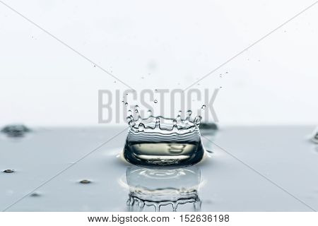 Photo of water splashes and ripples background