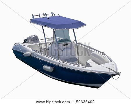 small sea boat. isolated on white background.
