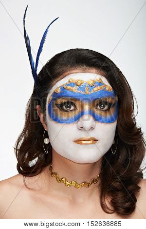 Pretty Women With Mask