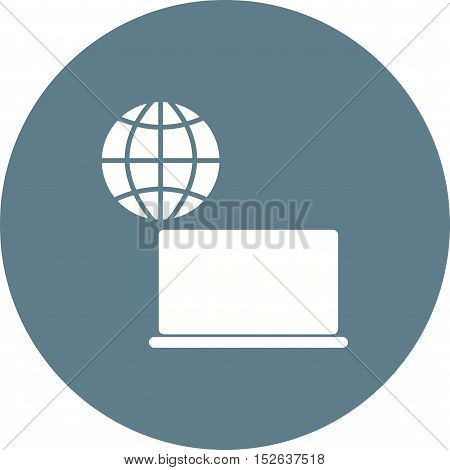 Internet, education, search icon vector image. Can also be used for E Learning. Suitable for mobile apps, web apps and print media.