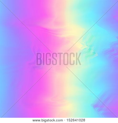Glitch background with glowing blurred colors flow