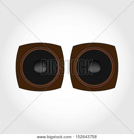 Speaker Box Flat Simple Illustration. Tweeter. Isolated.