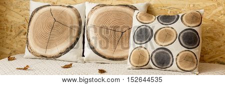 Wood Slice Pillow