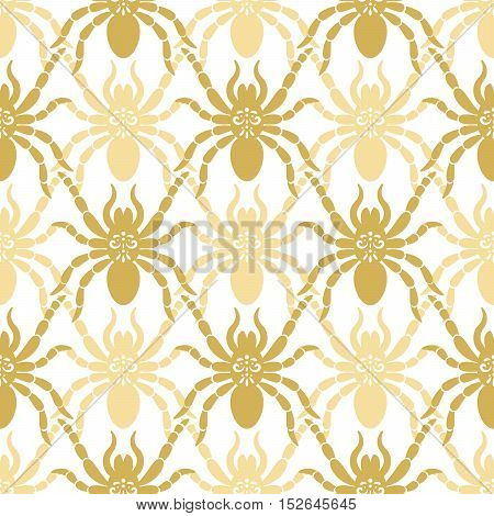 Seamless modern pattern for wallpaper interior design with spiders. Vector illustration
