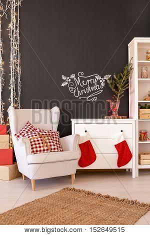 Contemporary Christmas Living Room