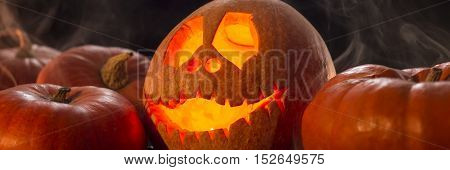 Scary Smiled Halloween Pumpkin
