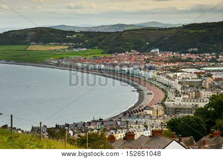 Small picturesque seaside town in Wales UK