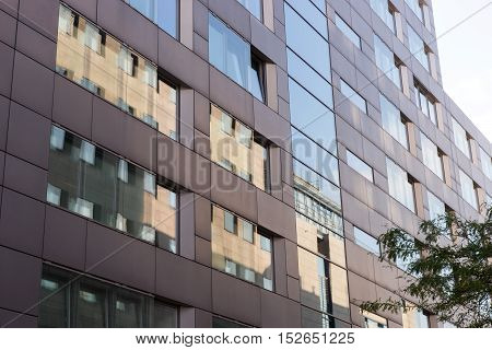 Detail of a facade of a modern office building, Cologne, Germany