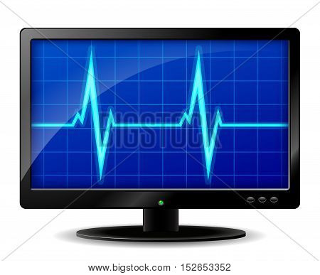 Illustration of diagnostics computer screen design concept