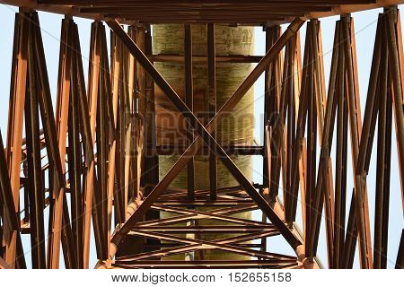 The Old Rusty Water Tower Tilted