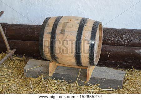 Classic Wooden Barrel