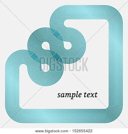 Vector Frame with Geometric Stripy Line. Vector illustration.
