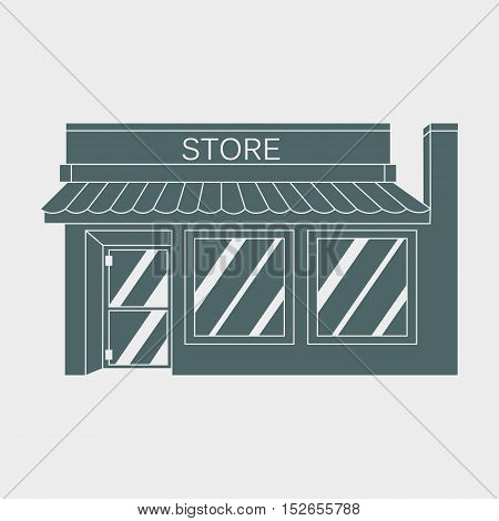 Vector illustration detailed Shop, Market, Store, Cafe Illustration Icon