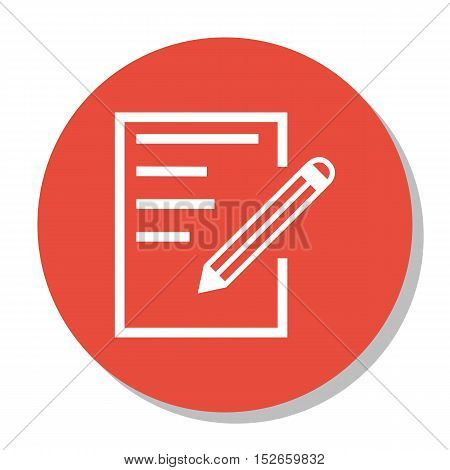 Vector Illustration Of Education Symbol On Notebook Icon. Premium Quality Isolated Paper Icon Elemen
