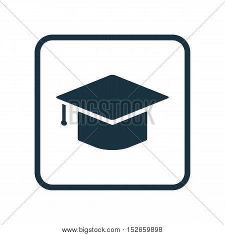 Vector Illustration Of Education Symbol On Hat Icon. Premium Quality Isolated Graduation Icon Elemen