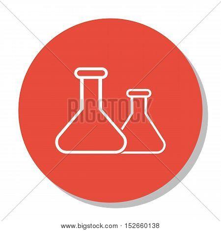 Vector Illustration Of Education Symbol On Flask Icon. Premium Quality Isolated Chemical Icon Elemen