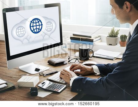 Global Communication Connecting International Concept