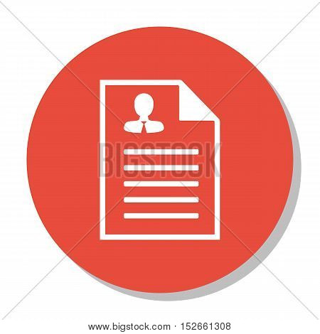 Vector Illustration Of Human Resources Symbol On Male Resume Icon. Premium Quality Isolated Curricul